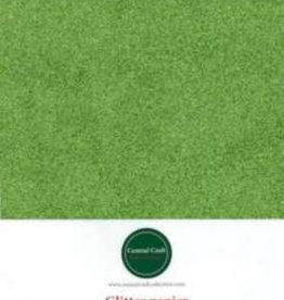 Central Craft Collection Glitterpapir gul / grøn A4