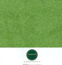 Central Craft Collection Glitzerpapier gelb / grün A4