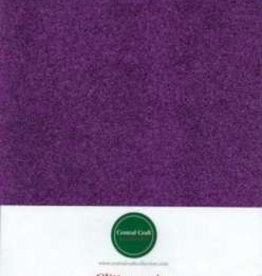 Central Craft Collection Glitterpapir lilla A4