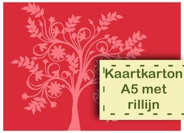 Kaartkarton A5 met Rillijn
