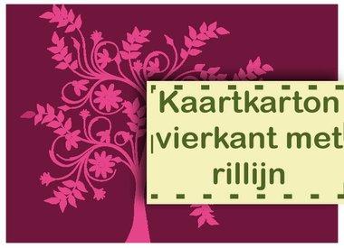 Kaartkarton vierkant met Rillijn