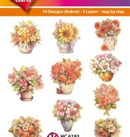 Hearty Crafts Easy 3D-Toppers Bloemen in vaas