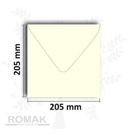 Envelopes square 205x205 mm ivory