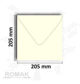 Konvolutter kvadratisk 205x205 mm elfenben