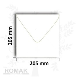 Briefumschläge quadratisch 205x205 mm weiß