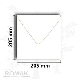 Enveloppes carré 205x205 mm blanc