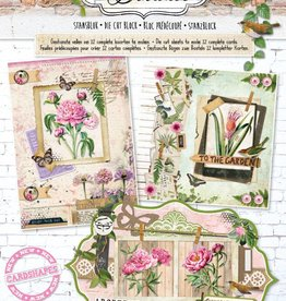 Studiolight Stansblok A4, content 12 sheets die cut, Romantic Botanic nr 57