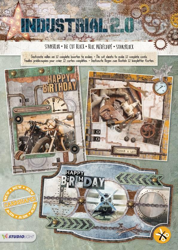 Stansblok A4 Content 12 Sheets Die Cut Industrial Nr 58