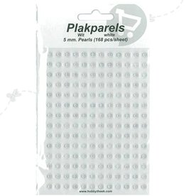 Hobbytheek Plak Parels Wit-White 5 mm