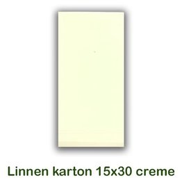 Hobbycentraal Cardboard 15x30 cm Linen cream