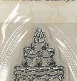 Mini timbres transparents - Gâteau