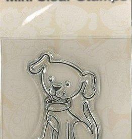 Mini timbres transparents - Chien