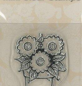 Mini timbres transparents - Fleurs