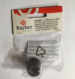 Rayher Rayher magnet with hole 20 mm diameter