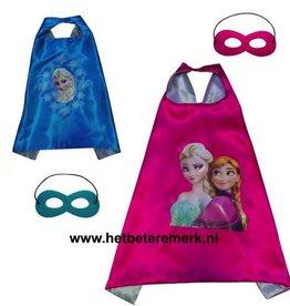 Prinses Elsa/Anna cape + masker
