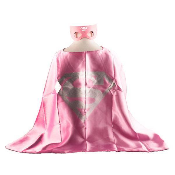 Superwoman cape en masker 3- 9 jaar