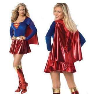 Supervrouw kostuum maat S