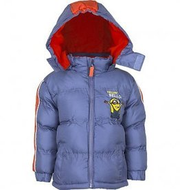 Minions Despicable Me Minions jongens winterjas - blauw/grijs