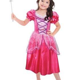 Prinsessen jurk + oorbellen, staf en tiara
