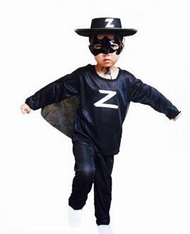 Zorro verkleedpak jongens maat S, M, L
