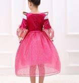 Prinsessenjurk - roze - maat 98, 104/110, 110/116, 122/128, 134/140