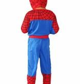 Spiderman verkleedpak - luxe maat 86/92, 98/104, 110/116, 116/122, 128/134
