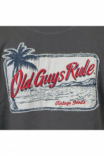 Old Guys Rule 1/4 Zip Vacation Palm Charcoal