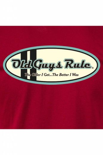 Old Guys Rule Comp Stripe Oval T-Shirt