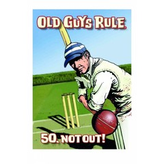 Old Guys Rule 60 Not Out Card