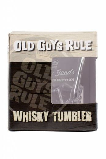 Old Guys Rule Aged To Perfection - Glass Whisky Tumbler