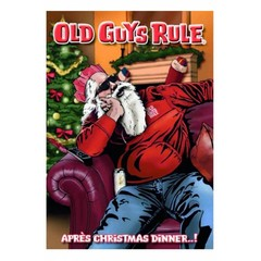 Old Guys Rule Apres Christmas Dinner Card