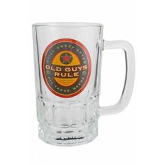 Old Guys Rule Beer Label Stein
