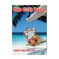 Old Guys Rule Boxing Day Card