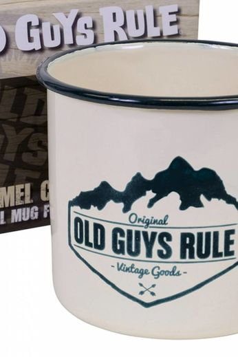 Old Guys Rule Camping Enameled Mug