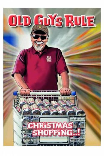 Old Guys Rule Christmas Shopping Card