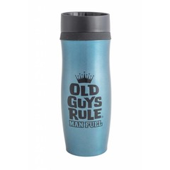 Old Guys Rule Indium Blue Thermal Drinking Flask