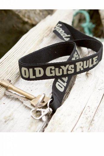 Old Guys Rule Ogr Black Lanyard