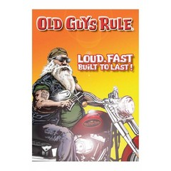 Old Guys Rule Santa Biker Card
