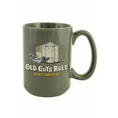 Old Guys Rule Shed Happens Mug