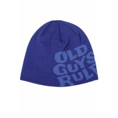 Old Guys Rule Stacked Logo Beanie Monaco Blue