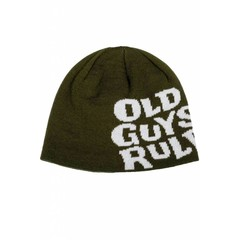 Old Guys Rule Stacked Logo Beanie Rifle Green