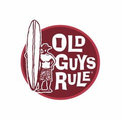 Old Guys Rule Surfer Guy Decal Sticker