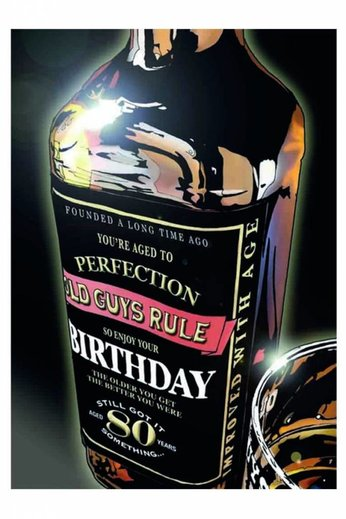 Old Guys Rule Whisky 40 Something Card