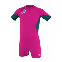 O'Neill Wetsuits Girls O'Zone Spring Sunsuit Berry