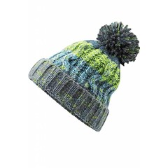 Beechfield Corkscrew Beanie - Electric Grey