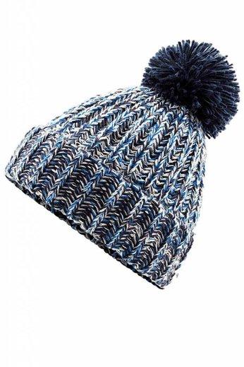 Beechfield Twist Knit Beanie Hat Navy