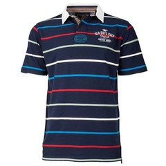 Old Guys Rule Vintage Goods Pique Polo - Navy Stripe