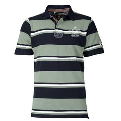 Old Guys Rule Vintage Goods Pique Polo - Blue Surf Stripe