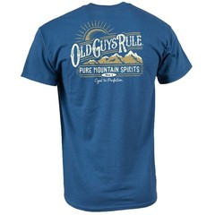Old Guys Rule Pure Mountain T-Shirt Back Print