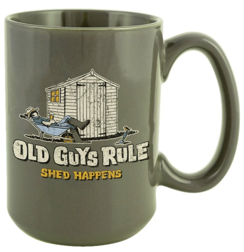 Old Guys Rule Shed Happens Mug